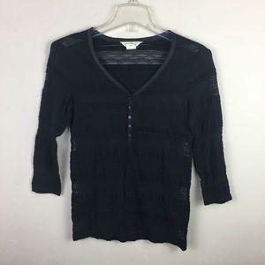 Denim & Supply Ralph Lauren black lace blouse